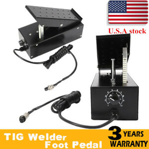 Tig Foot Pedal Control On off Adjustable Current Control 7 Pin Machines