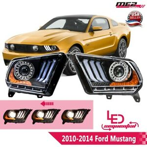For 2010 2012 S197 Ford Mustang With Led Drl Sequential Signal Headlight