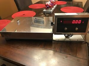 Rice Lake Iq 210 2a Plus Digital Weight Indicator With Digital Scale Platform