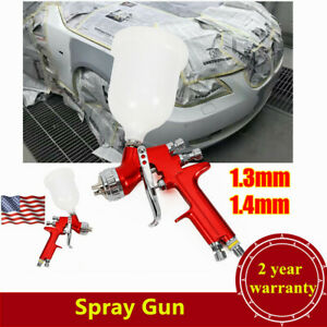 1 3mm 1 4mm Nozzle Hvlp Spray Gun Auto Car Paint Gun Kit 600cc Gravity Feed Cup