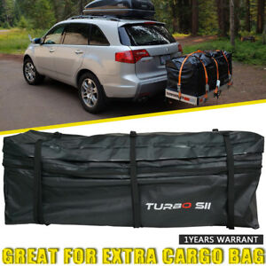 Hitch Tray Cargo Bag Rainproof Expandable Travel Luggage Carrier Car Suv Van New