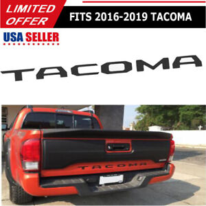 Tailgate Real Matte Black Letters Inserts For Toyota Tacoma 2016 2017 2018