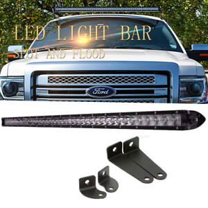 50inch 250w Led Light Bar Slim Single Row Driving Truck Offroad Ford 4wd 52