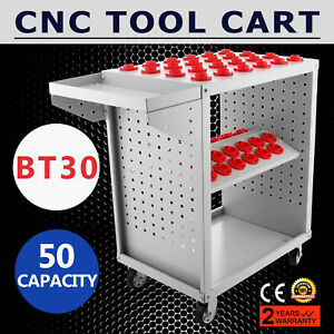 Bt30 Cnc Tool Trolley Cart Holders 50 Capacity Service Cart Tool Box Cabinet