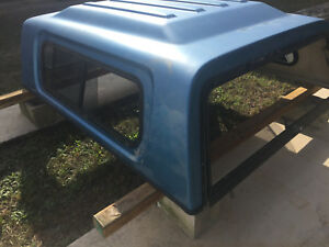 1997 Ford F250 Truck Bed Topper Blue Fiberglass Short Bed 97 91 92 93 94 95 96