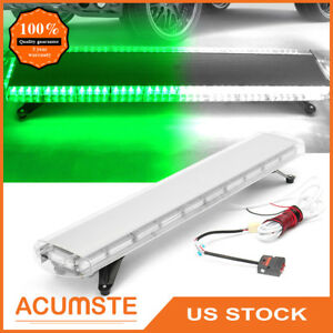 48 88 Led Emergency Warning Strobe Light Bar Tow Truck Response Gren White
