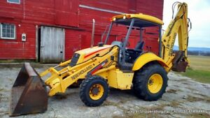 New Holland Lb75 b Backhoe Loader 4wd 95hp Brand New Tires Just Serviced Lb75b