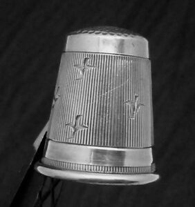 Vintage Sterling Silver Germany German Thimble Bird Decoration 22734
