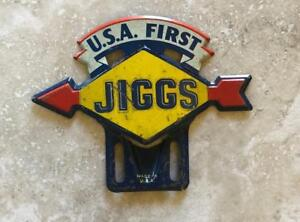 Sunoco Usa First Jiggs Vintage Automotive License Plate Topper Original
