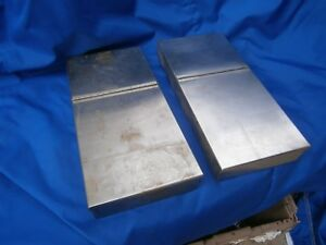 Two Surgical Instrument Tray Lid Stainless 15x7x2 Inches