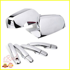 For Chevy Equinox Gmc Terrain Chrome Side Mirror Door Handle Covers Combo Deal