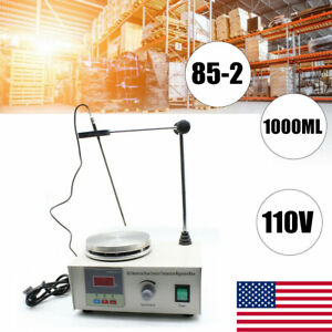 1000ml Laboratory Magnetic Stirrer Mixer Heating Hot Plate Control 2400rpm min