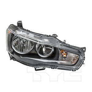 Mi2503139 Fits 2008 2009 Mitsubishi Lancer Headlight Passenger Side Nsf Halogen
