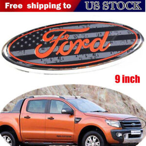 Black American Flag Ford F150 3d 9 Inch Front Grille Grill Tailgate Emblem Badge