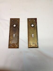 Vintage Door Plates With Key Holes Lot Of 2