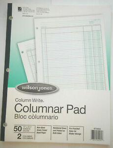 Box Of 10 Two Columned Columnar Pads Numbered Rows Printed On Both Sides No Tax