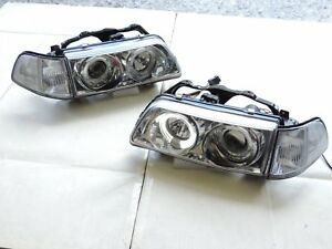 Halo Projector Headlights Left right For 1990 1991 Honda Civic 4dr Ex