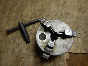 Small 3 Jaw Metal Lathe Chuck Work Holding Jig Fixture With Key