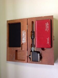 Starrett Last Word Dial Test Indicator No 711 With 657 Magnetic Base And Case