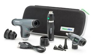 Welch Allyn 3 5v Diagnostic Set Led Panoptic Macroview Otoscope Li ion Handle