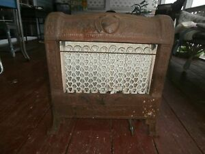 Vintage Cast Iron Gas Heater Ornate