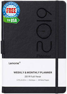 Planner 2019 Academic Weekly Monthly And Year With Pen Loop To Achieve