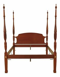 F46552ec Queen Size Solid Mahogany Rice Carved Poster Bed