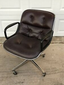 Authentic Knoll Charles Pollock Mid Century Modern Chair 4 Star Base