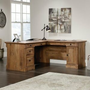Sauder Palladia L shaped Desk Vintage Oak