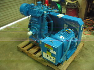 Quincy Qr 25 Series Qr 370 b 15hp Two Stage Compressor Base Mounted