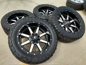 22 22x10 Fuel Chevy Silverado Sierra 2500 Wheels Rims Tires 35 Toyo 8x180 24