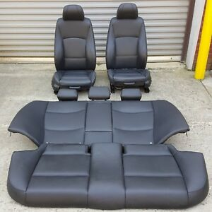 Oem Bmw E90 325 330 328 335 Sedan Interior Sport Seat Seats Front Rear Set Black