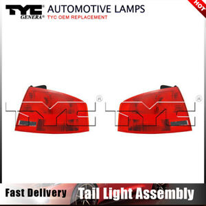 Tyc Tail Light Lamp Assy Left Right Outer 2pcs For Audi A4 Quattro Sedan 05 08