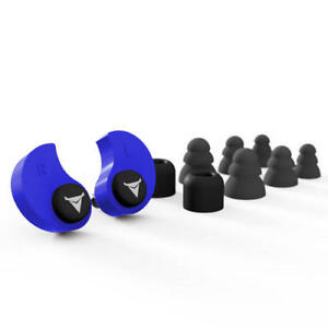 Blue Thermoplastic Custom Molded Nrr 31 Db Superior Noise Isolation Earplugs Set
