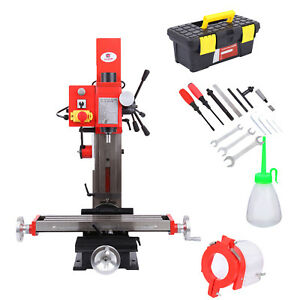 Mini Milling Drilling Machine Variable Speed Drive 90 Verticaly Head Swivels