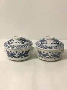 Chinese Blue And White Porcelain Dragon Bowl With Lid