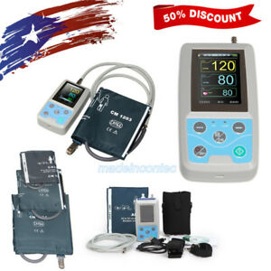 Contec Ambulatory Blood Pressure Monitor software 24h Nibp Holter 3 Cuffs Usa
