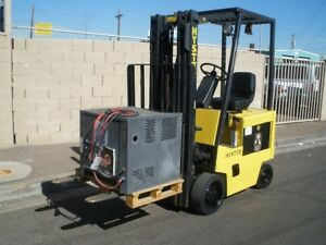 Hyster E30xl Electric Forklift Charger New Battery Only 1484 Hrs