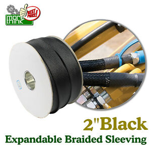 Black Expandable Sleeving Cable Braided Sleeve Choose 2 Super Length Lot