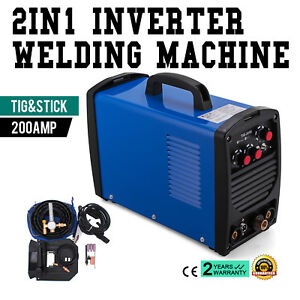 Tig 205s 200a Tig Stick Arc Dc Welder Portable W Mask Stainless Steel Promotion