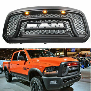 Black Front Grille Replacement Fit For 2013 2018 Dodge Ram 1500 Grill Usa
