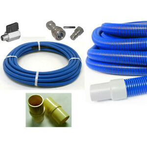 4000psi Carpet Cleaning Hose Set 50ft Solution Vacuum Stainless Qd qc Ball Valve
