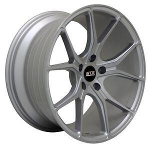18x9 5x112 Str 602 Silver Machine Made For Mercedes Audi Volkswagon