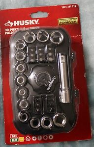 Husky 30 Piece 3 8 Inch Drive Palm Ratchet Set New 1001 381 713