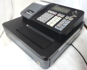 Casio Se S700 Cash Register Black Used With Keys Works Perfectly