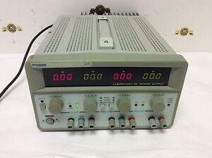 Protek 3305l Laboratory Dc Power Supply Triple Output Dual 0 30v 5a Fixed 5v 3a