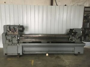 Cadillac Model 22100g Engine Lathe Steady Rest Two Chucks 22x100 Tooling Gap Bed