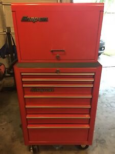 Snap On Tool Box Chest Top Bottom Comes W keys Nice