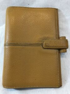 Filofax Personal Finchley Mustard Yellow 6 Ring Deluxe Leather 5 X 7 5 Organizer