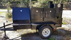 Mini Ribmaster Mobile Bbq 24 Grill Smoker Trailer Food Truck Vending Concession